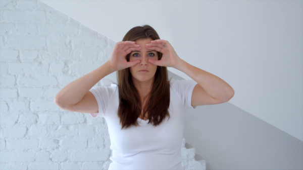 face yoga technique for forehead